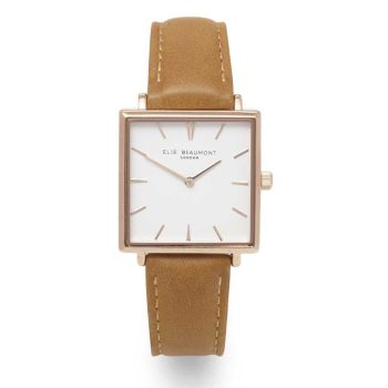 Elie Beaumont Bayswater Camel Leather Watch