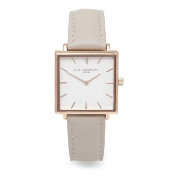 Elie Beaumont Bayswater Stone Leather Watch