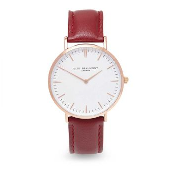 Elie Beaumont Oxford Crimson Nappa Watch