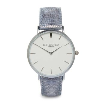 Elie Beaumont Sloane Light Blue Nappa Watch