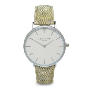 Elie Beaumont Sloane Green Nappa Watch