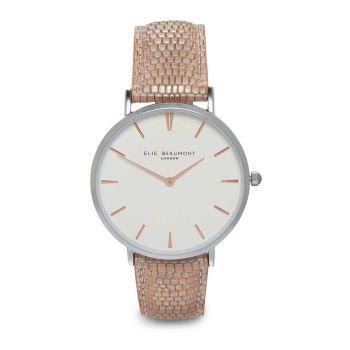 Elie Beaumont Sloane Blush Pink Nappa Watch