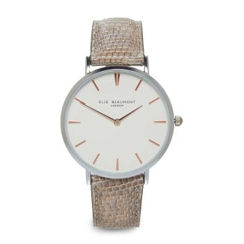 Elie Beaumont Sloane Taupe Nappa Watch