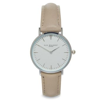 Elie Beaumont Oxford Stone Leather Watch
