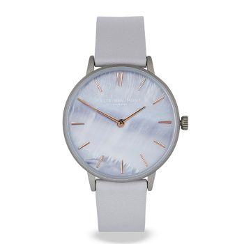 Elie Beaumont Soho Light Grey Leather Watch