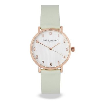 Elie Beaumont Fitzrovia Mint Leather Watch