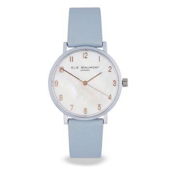 Elie Beaumont Fitzrovia Blue Leather Watch