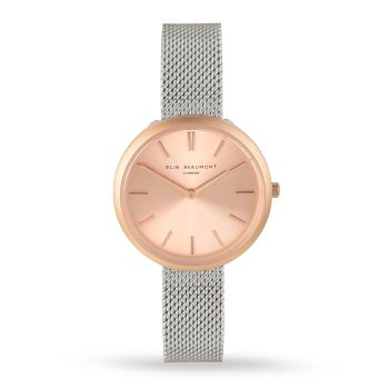 Elie Beaumont Marlow Silver Mesh Watch