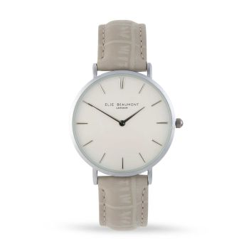 Elie Beaumont Sloane Stone Leather Watch