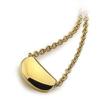 Gold Pebble Pendant (14ct Gold Plate)