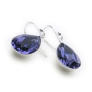 Swarovski Tears Earrings (Tanzanite)