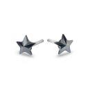 Star Studs (Jet Hematite)