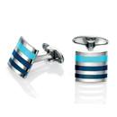 Blue Stripe Cufflinks