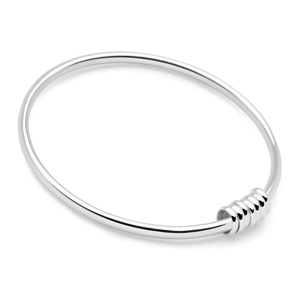 plain bangles hinged marked chain safety solid with bracelet bangle silver l sterling