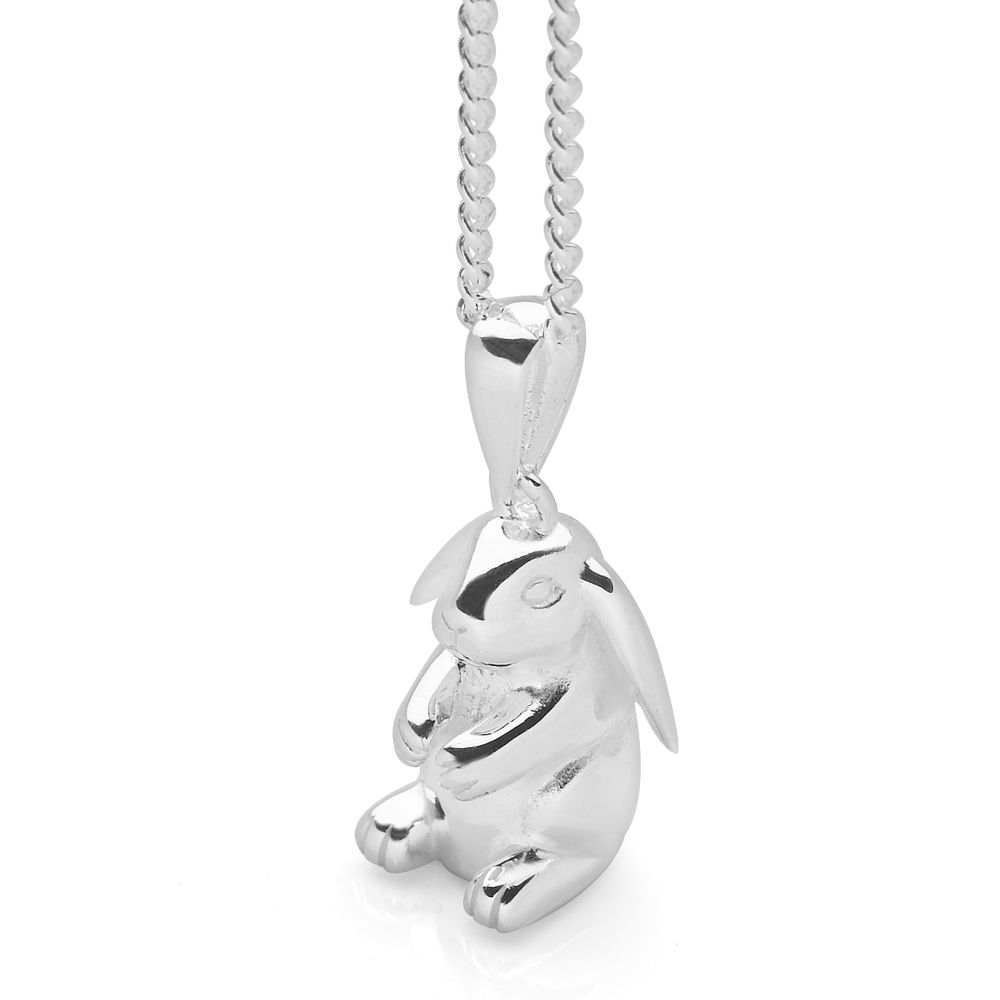 Lop eared bunny pendant silver pendants silver by mail alternative image aloadofball Images