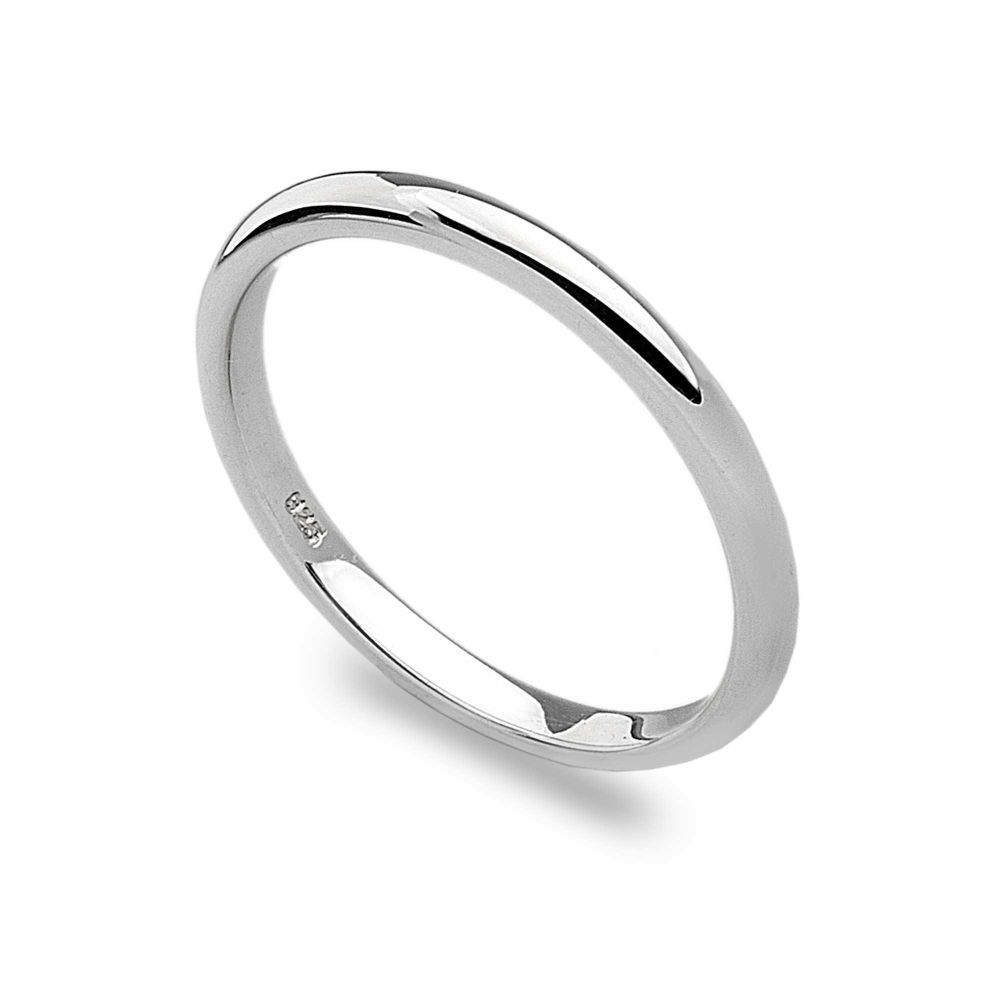 d shaped stack ring silver rings silver by mail