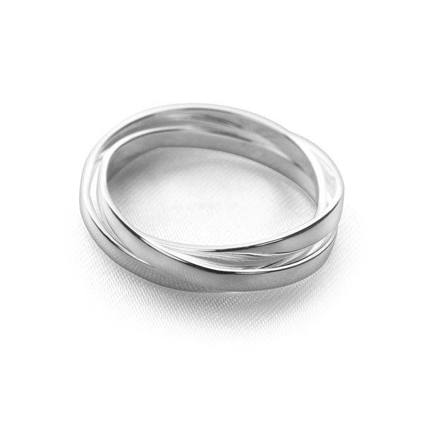 Flat Russian Wedding Ring Silver Rings Silver By Mail