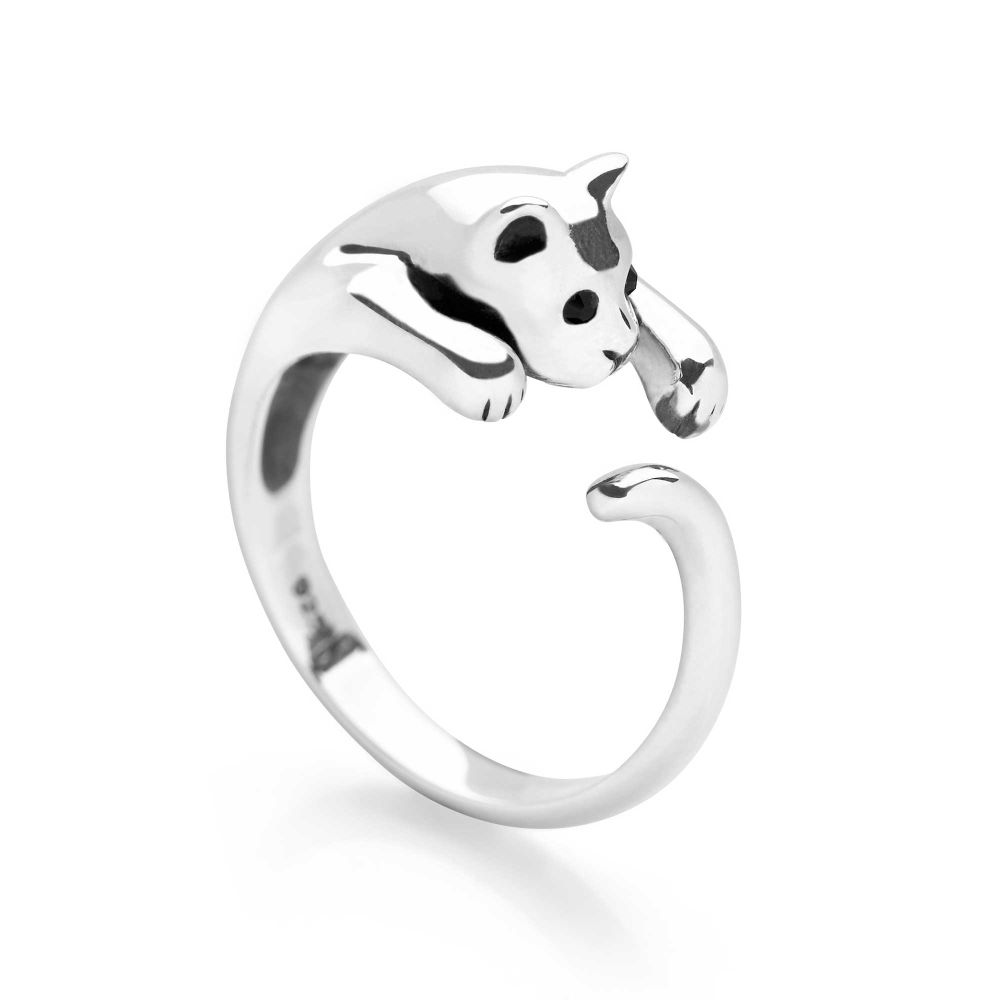for adjustable cats we products ring lovely love ladies rings cat