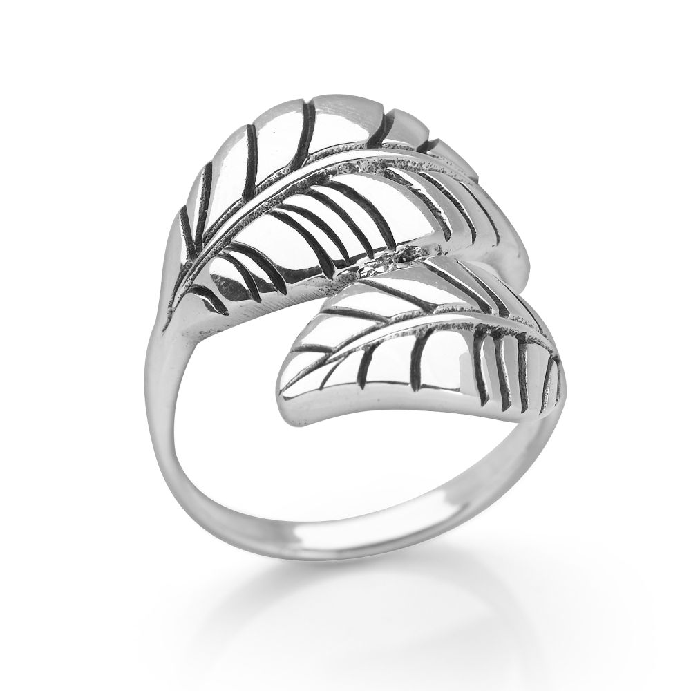 mulberry leaf ring gift finder silver by mail Vine Ring alternative image