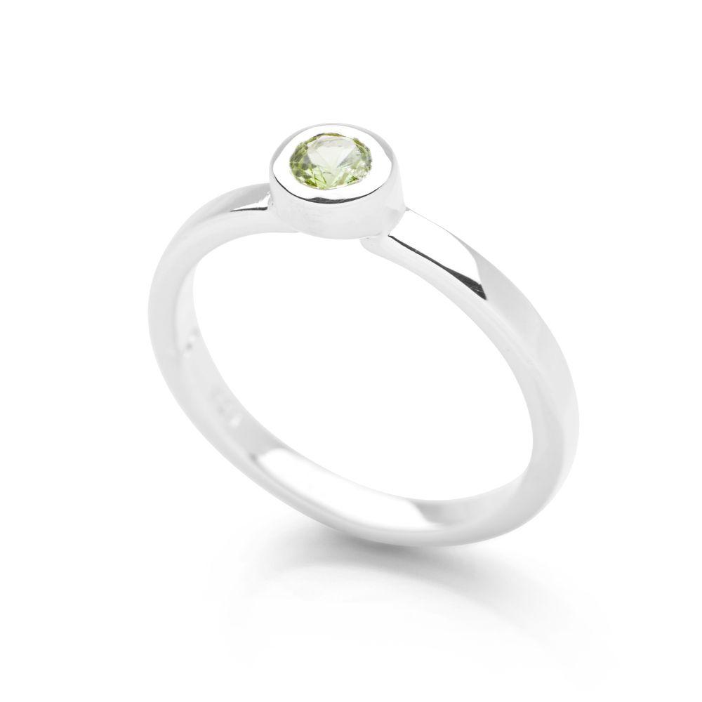 sixth sense ring peridot silver rings silver by mail