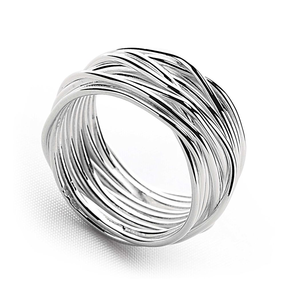 new strand ring silver rings silver by mail